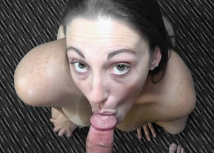 Melanie Hicks gives Mike a blowjob